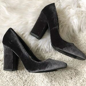 Mossimo & Co Velvet block heels